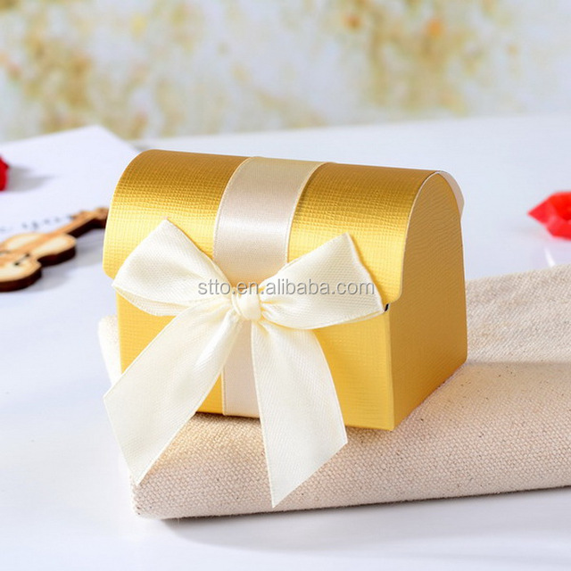 Paper Treasure Chest Craft Gift Boxes for Wedding Anniversary Party Decoration
