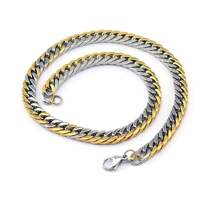 New Style Two Tone Gold Chain For Men New Gold Chain Design - Buy ...