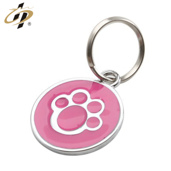 custom Painted dog paw keychain