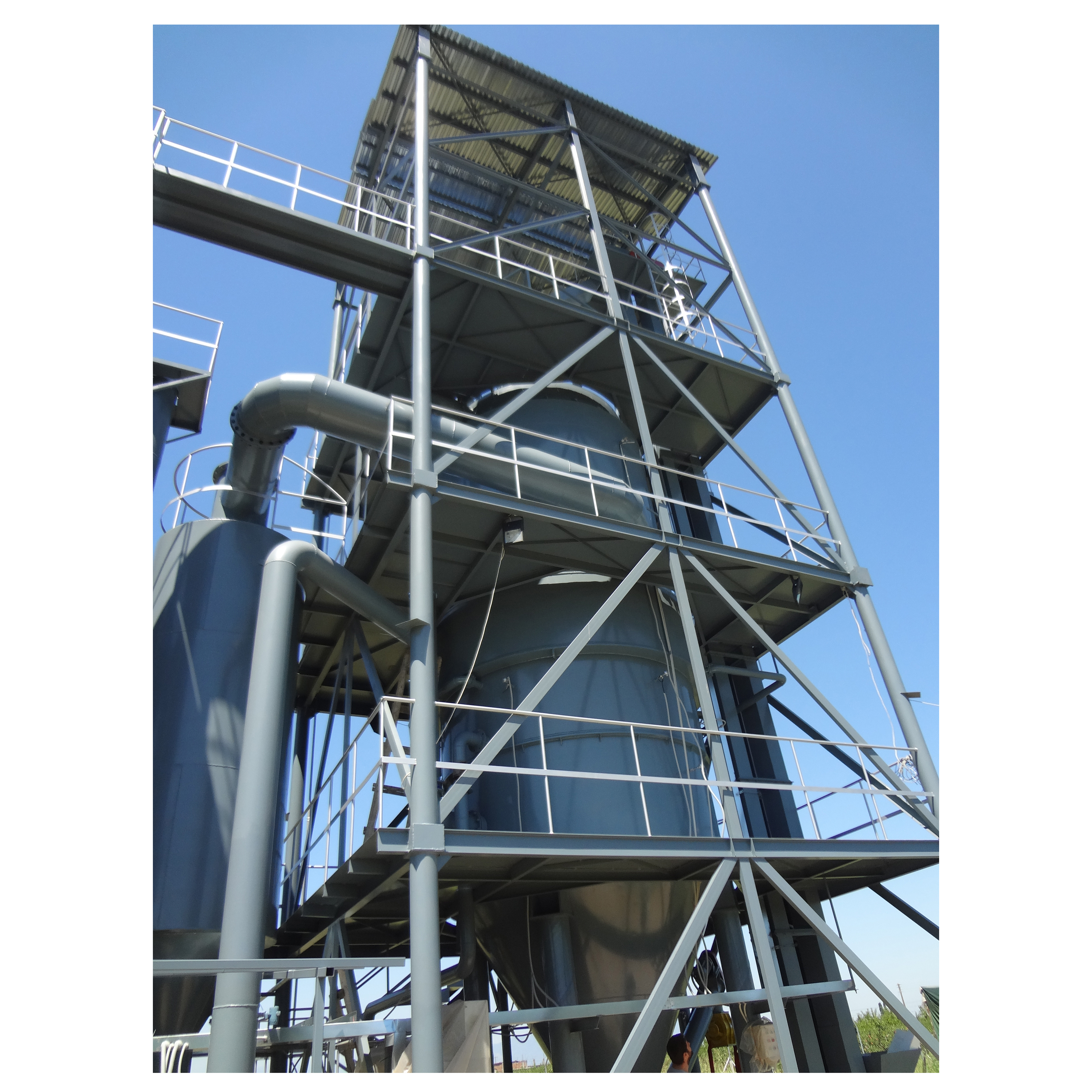 bark biomass gasification with syngas generator set