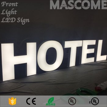 Acrylic Channel Letter With Whole Led Lighting Full Lit Signs Built Up Letters Product On Alibaba
