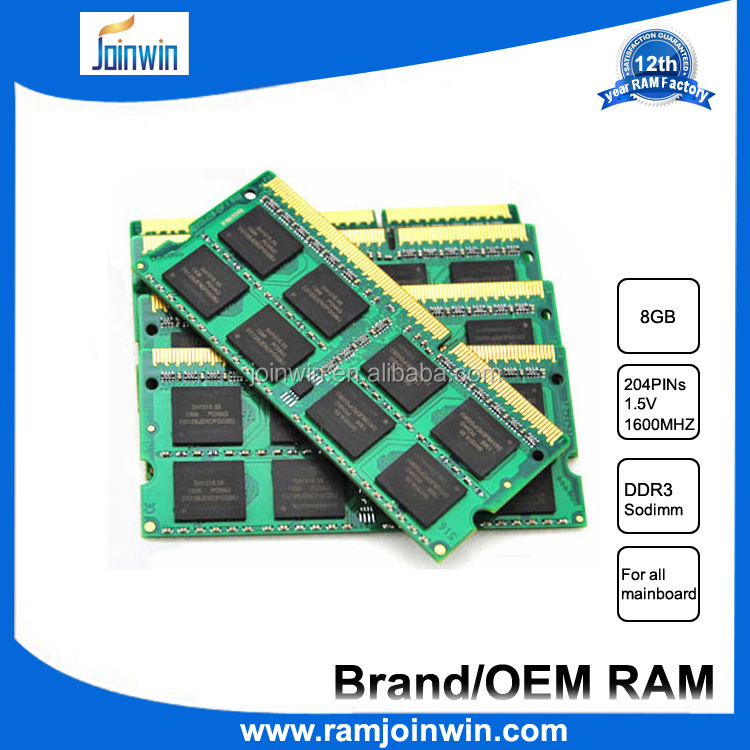 Factory direct computer parts laptop 8gb ram memory ddr3 1600mhz