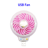 Electric Portable Rechargeable Air Cooler USB Mini Fan with LED Light