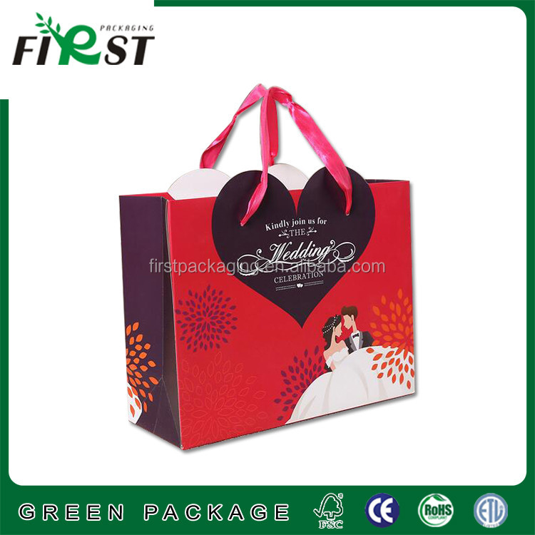 Creative Paper Gift Bags Red Indian Wedding Handmade Christmas Whole