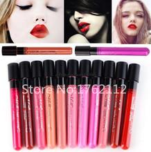 Women Ladies Arrival 2015 Waterproof Elegant Color Lipstick Matte Smooth Lip Stick Lipgloss Long Lasting Sweet Girl Lip Makeup