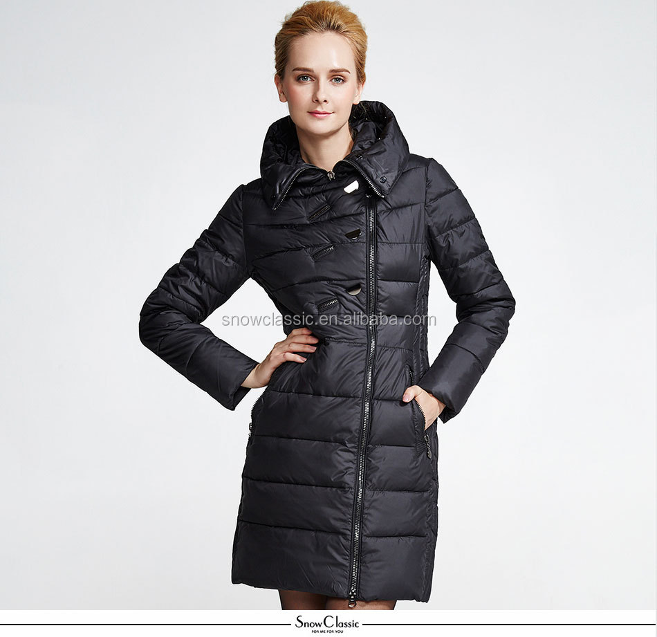 High quality outerwear fur hood coats winter long jacket/down jacket women fur parka