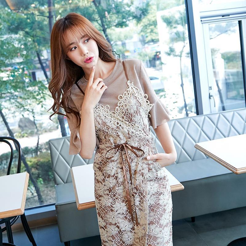 fce2e80c21088 Cheap 2-pieces Set Korean Girls Party Dresses No Minimum Brand Women  Clothes Female Garment Dress Oem - Buy Korean Girls Party Dresses,Brand  Women ...