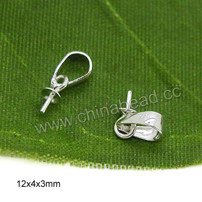 Wholesale 925 jewelry accessories sterling silver peg bails for pendant
