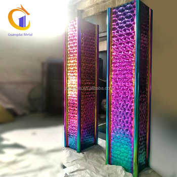 Modern metal colorful stainless steel clad interior decorative column cover
