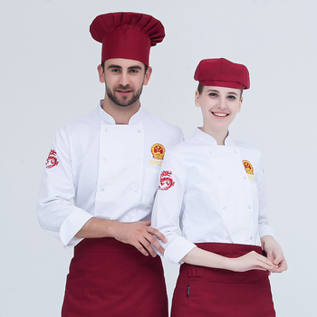 Good Quality Hot Selling Restaurant Black Colour Polycotton Material Chef Uniform Design For Femail