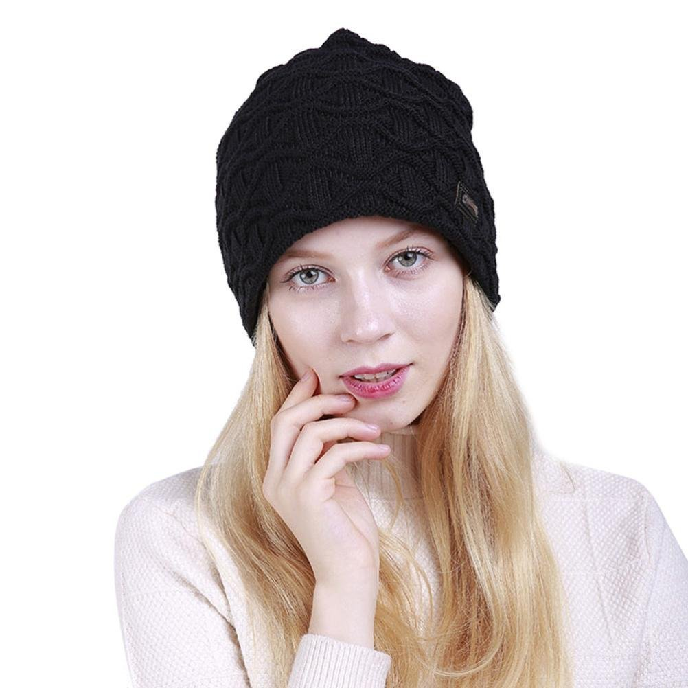 95e45d72d7649f Get Quotations · Ikevan Winter Warm Knitting Hats Wool Baggy Slouchy Beanie  Hat Skull Cap Warm Hat Daily Slouchy