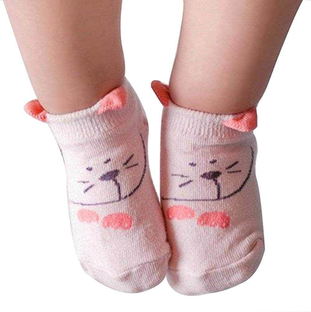 Qingsun Cute Baby Unisex Anti-Skid Cozy Soft Cotton Socks For 0 - 24 months Babies