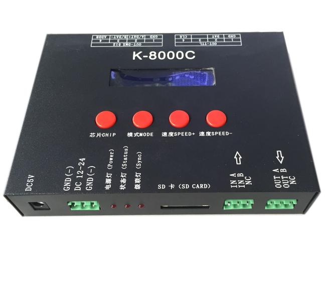 Ingelligent Lighting Solution T-8000 Programmable LED RGB 8192 Pixels Controller K-8000C