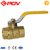 China made hot sale brass ball valve PN2.5 with lock water meter