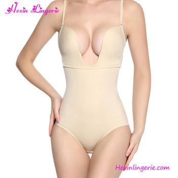 0026e29d15b51 2017 Nude U Plunge Seamless Plus Size Big Women Sexy Body Shaper ...