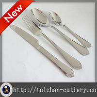 fashion design high quality silverware with bead handle