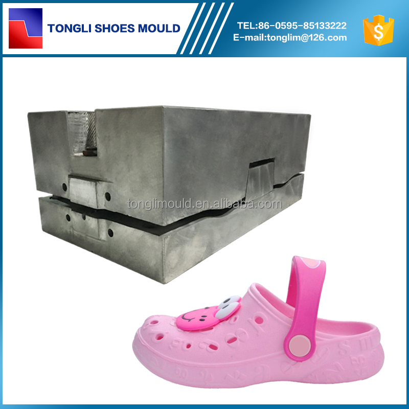 Two Color Injection Plastic Mold Kids Beach Crocs Mould Garden Shoe