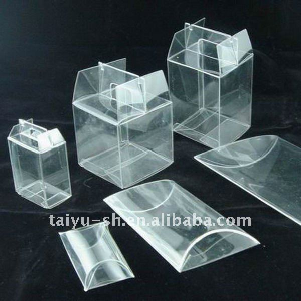 Claro pl stico cart n embalaje cajas identificaci n del - Caja transparente plastico ...