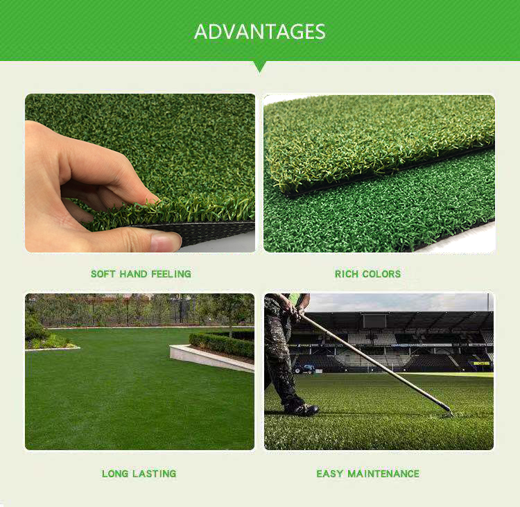 Anti uv cricket pitch groene synthetische putting turf China voor basketbal hof, snowboarden, tennis of tuin