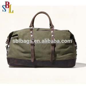 Fashion canvas travel bag outdoor overnight duffel bag