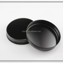 Matt Black Anodized Aluminum Screw Cap For Cream Jar Packaging