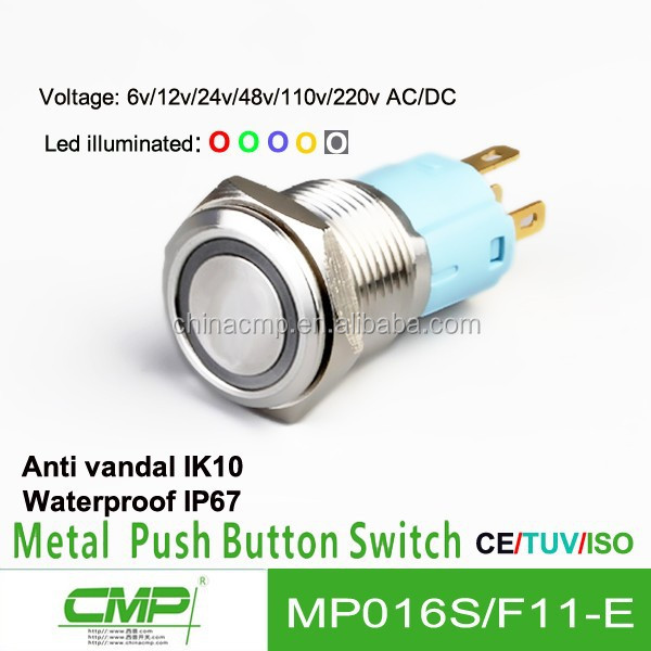Peachy 16Mm Push On Push Off Switch 12V Led Push Button Electrical Wiring Wiring Digital Resources Funiwoestevosnl