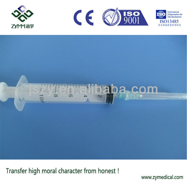 10ml disposable medicine injection syringe for sale