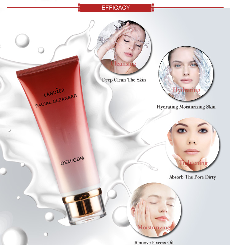 OEM/ODM Deeply face Skin Cleansing Facial Wash Cleanser For Oily Skin
