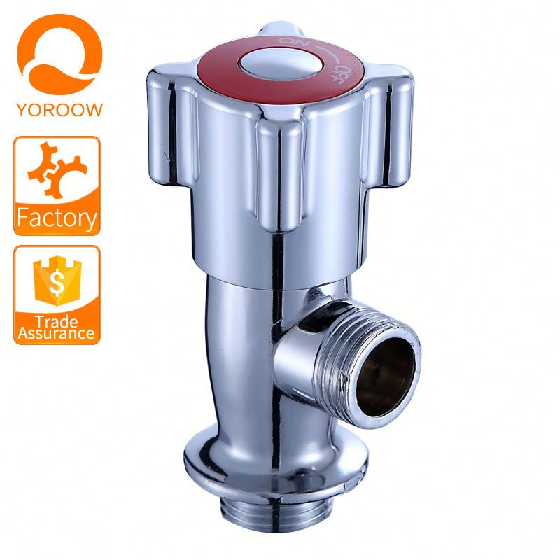Best Choice chrome 2 way water flow control brass angle valve