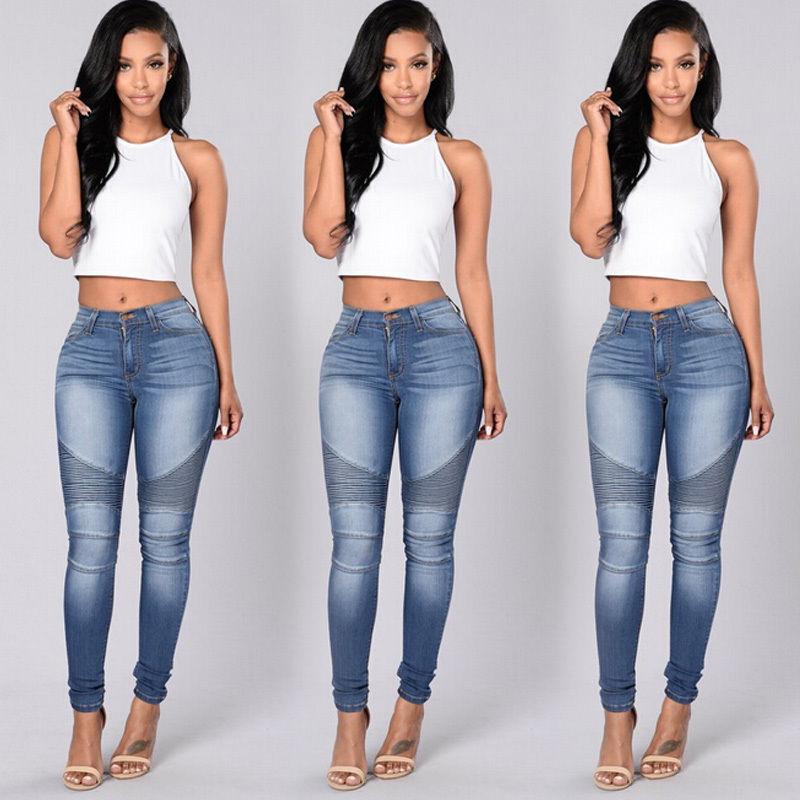 3550e930a80f 2019 Wholesale New Sexy Women Denim Skinny Pants High Waist Stretch ...