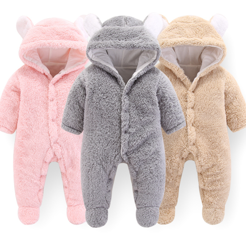 factory custom design new infant clothing baby winter romper