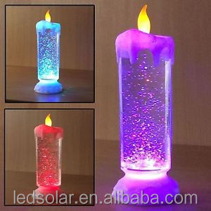 Color Changing LED Swirling Glitter Candle Light Home&Christmas&weldding parties Decor Flameless Flickering candle