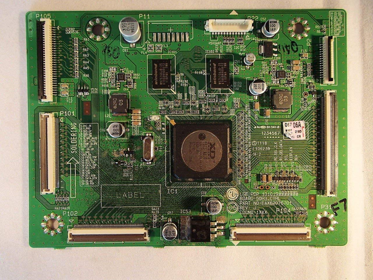 "50"" 50PV450-UA 50PV220-UA EBR71727804 Plasma Main Logic Control Board Unit"