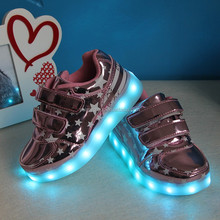 Fashionable star led shoes kids, shoes with lights for kids