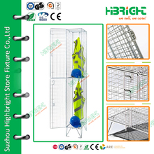 construction plant 2 tiers wire mesh lockers for changing room