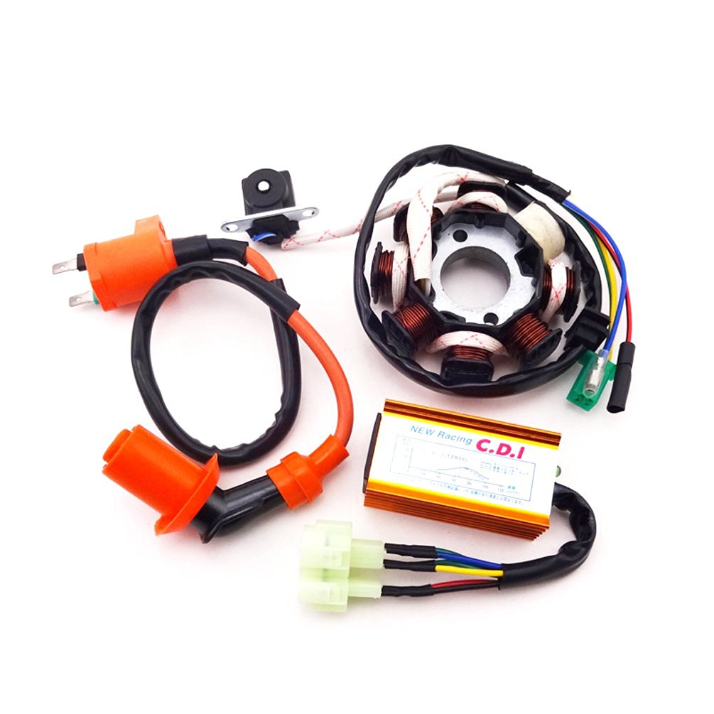 XLJOY Magneto Stator Racing Ignition Coil 6 Pins Wires AC CDI Box for  Chinese GY6 125cc