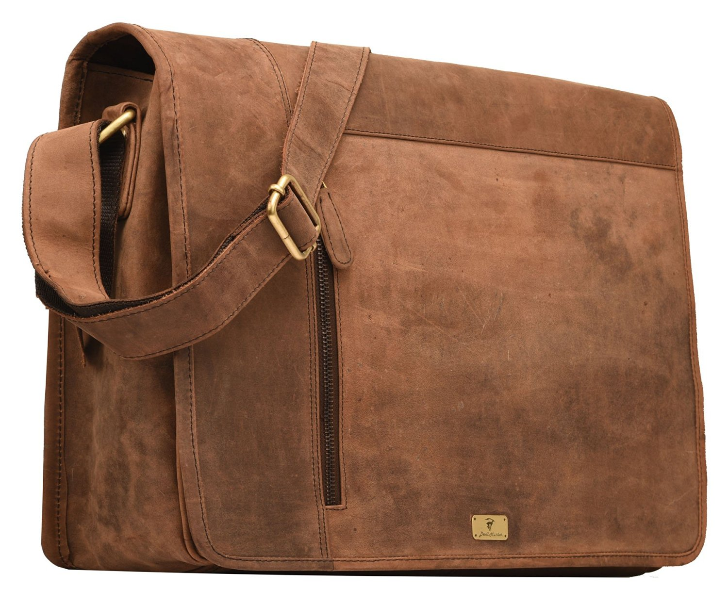 DH Valley genuine buffalo leather messenger bag in vintage style shoulder travel bag laptop bag