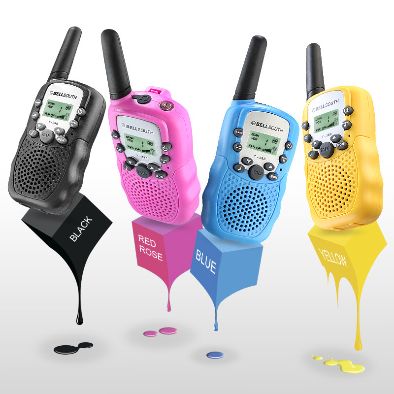 BF-T3 TS-T8 T388 Two Way Radio FRS/GRMS 0.5W UHF very Cute Kids Toy PMR446 Walkie Talkie for Christmas Gift