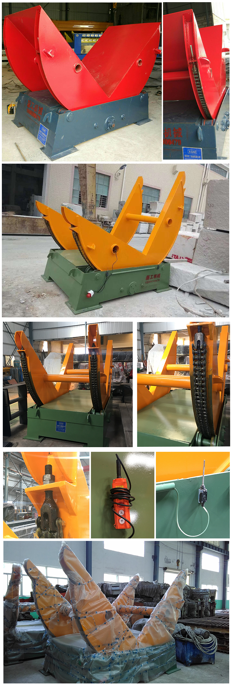 Best selling Chain Type Stone Turnover Machine