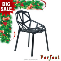 Modern Designer Plastic Garden Chair, Plastic Viento Chair Dining Chair
