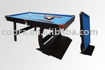 Family use strong structure folding pool table buy mdf for Pool table 6 x 3