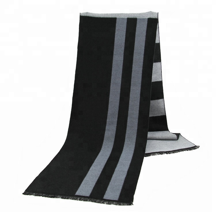 Simple Outdoor Adults Men Imitated Cashmere Stripe <strong>Scarf</strong>