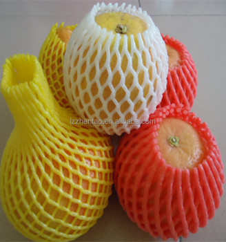 Plastic Packaging Protection Mango Foam Fruit Net Cover