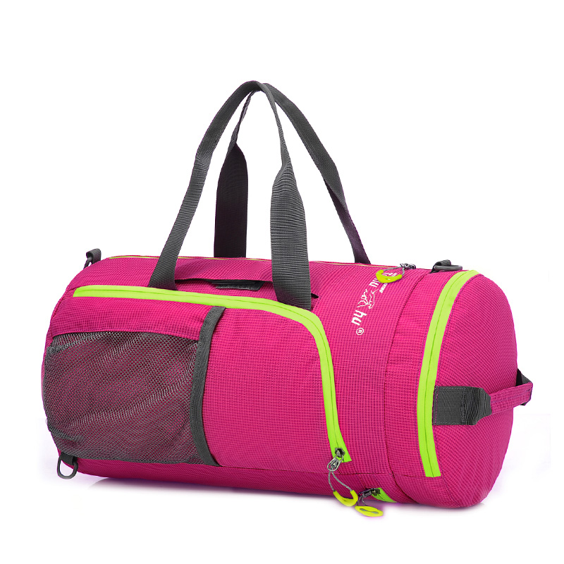 Premium Multi Colors Light Weight Gym bag, , Portable Folding Travelling Weekender Bag, Water Repellent Nylon Duffel Bag