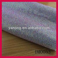 silver plated mesh fabric rhinestone wholesale