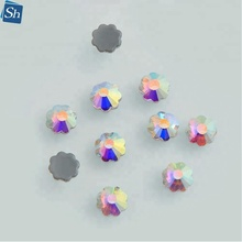 heat transfers hotfix flower rhinestone iron glass machine cut stone