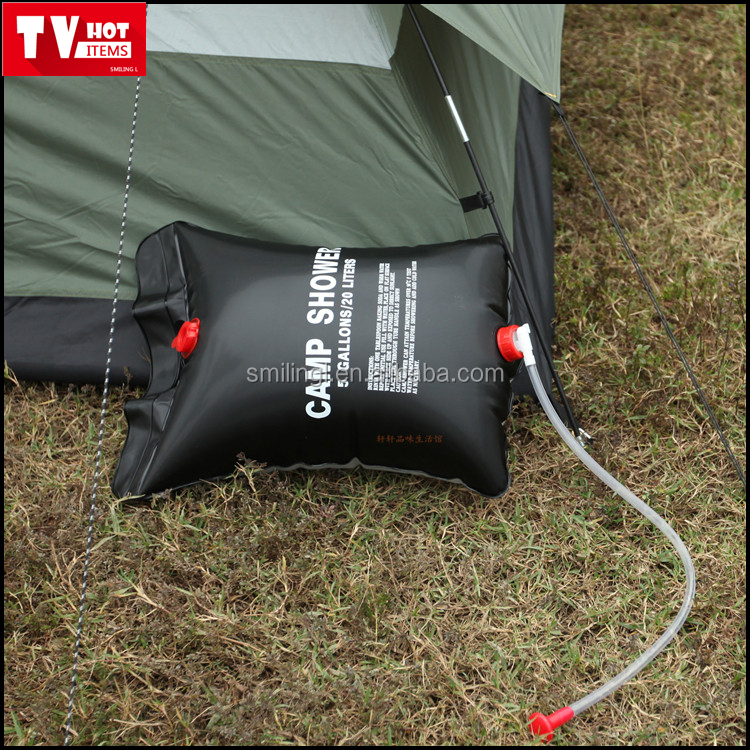 portable camp hanging shower bag outdoor solar heating water bag wild foldable hot water bath bag
