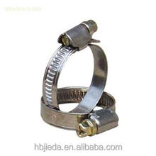 china supplier Half ss galvanized steel Germany type zebra hose clamps