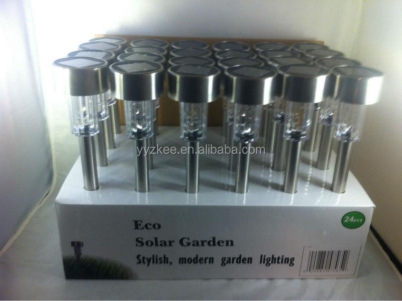 Jardin ext rieur en acier inoxydable pas cher mini solaire - Lumiere exterieur pas cher ...