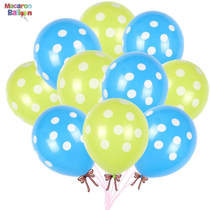 "Wholesale Colorful Latex Polka Dot Balloon Party Wedding Birthday Decorating 12/"""